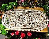 Laivigo Handmade Crochet Lace Oval Lucky Flower...