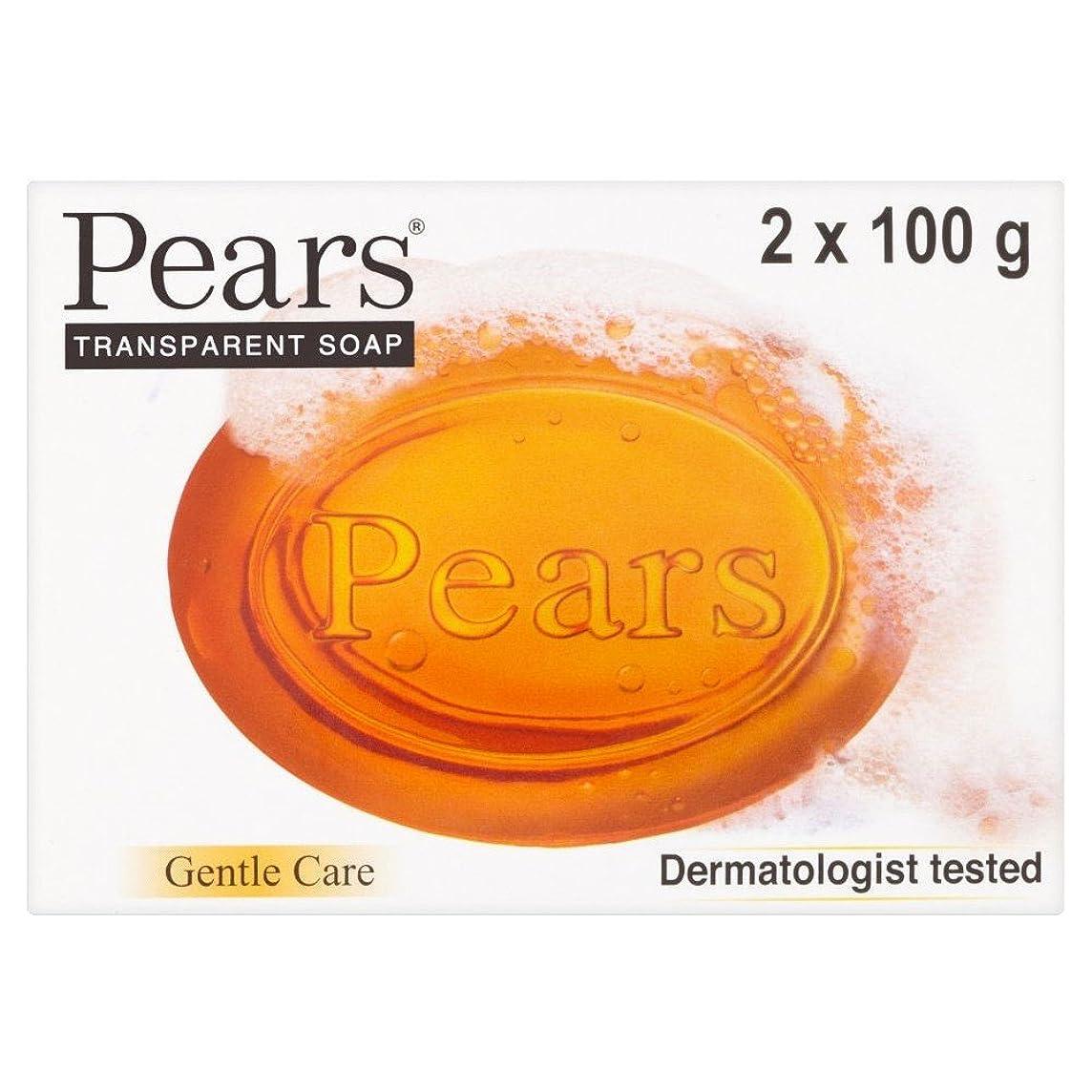 膜おとなしい一族Pears Transparent Soap (2x100g) 梨透明石鹸( 2X100G ) [並行輸入品]