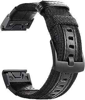 YOOSIDE Fenix 5/Fenix 6 Watch Band, 22mm QuickFit NOTA Nylon Durable Wristband Strap for Garmin Fenix 5/5 Plus,Fenix 6,Ins...