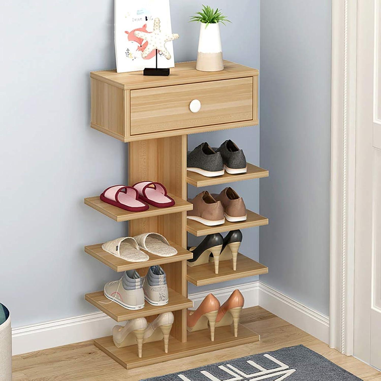 5 6-layer shoes Rack Shelf Flower Stand Bookshelf Storage Shelf shoes Cabinet Multifunction Household Doorway Entrance Living Room Space Saving (color   B, Size   40  24  82CM)