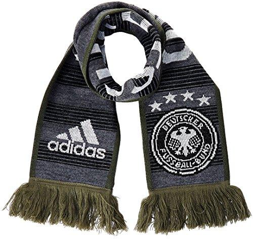 adidas DFB Performance Fanschal Schal, Dark Grey Heather/Base Green S15, OSFM