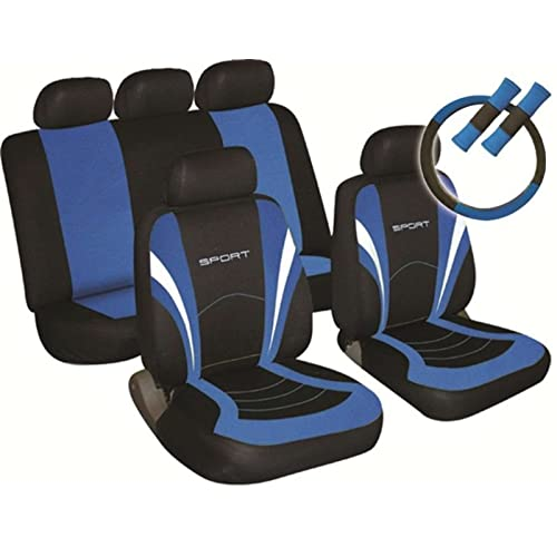 SPORTY TO FIT RENAULT CLIO LAGUNA MEGANE CAR SEAT COVERS IN BLACK /& BLUE