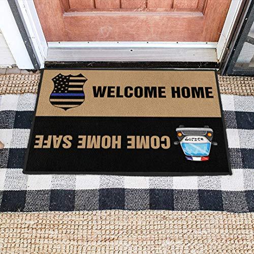 Police Come Home Safe Doormat Police Officer Doormat Gift Welcome Rug New Home Gift Floor Rug Housewarming Gift Home Living Best Gift