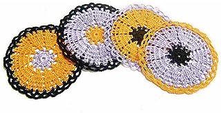 Set de 4 posavasos de colores de ganchillo para Halloween - Tamaño: ø 11 cm - Handmade - ITALY