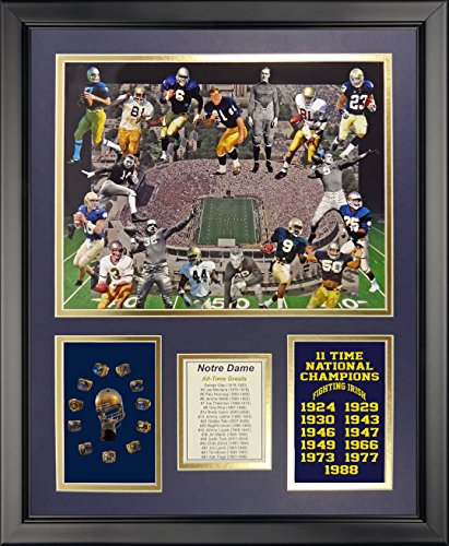 Notre Dame Fighting Irish NCAA Framed 8x10 Photograph Play Like a Champion Today