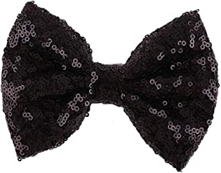 Love Fairy Girl's Lovely Fashion Bow Hairpin Sequins Hair Clip for Daily Life Travel Party Festivals