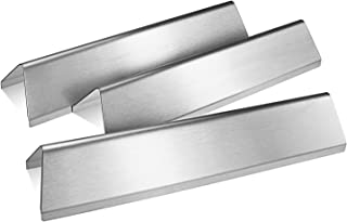 QuliMetal 7635 15.3 Inches Flavor Bars for Weber Spirit E210, S210, E220, S220 with Front Control Knobs, 16 Gauge Stainless Steel Heat Plate for Weber Spirit 200 Series (2 Burners) Gas Grills, 3 Pack