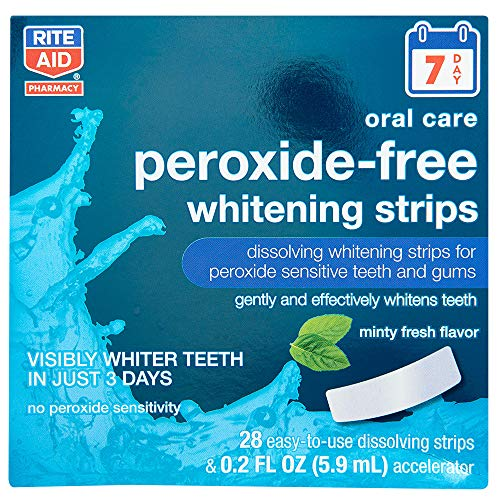 top 10 dissolving whitening strips Rite Aid Tooth Whitening Strip, Peroxide Free, Fresh Mint Flavor – 28 Strips | Plaque Remover