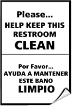 Please.Help Keep Restroom Clean Ada Sign Label Decal Sticker 5 inches x 7 inches