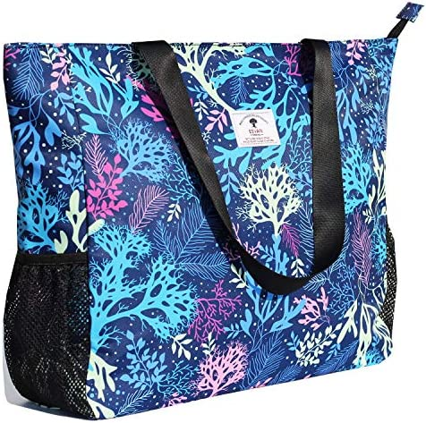 LARGE BEACH BAG Water Resistant Lightweight 20 inch Women Oversize Tote Bag for Gym Beach Travel product image