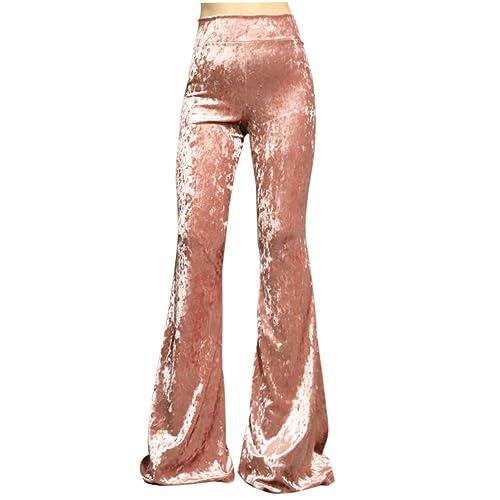 2227c95d22 ShopMyTrend SMT Women's High Waist Wide Leg Long Palazzo Bell Bottom Yoga  Pants