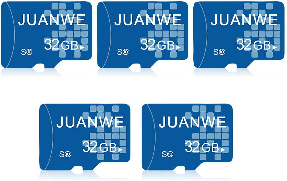 JUANWE 5 Pack 32GB Memory Card, Memory Card 32GB TF Card High-Speed Card for Smartphone/Bluetooth Speaker/Tablet/PC/Camera (5 Pack)