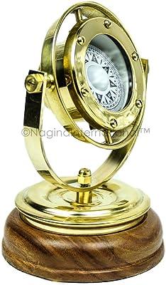 Maritime Compasses Antiques Clever Marine Compass Brass Antique Vintage Gimbals Nautical Decor