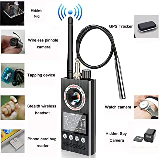 Anti Spy RF Detector Hidden Camera Detector Bug GPS Wireless Signal Alarm Scanner Detection Device [Military-Professional Version]