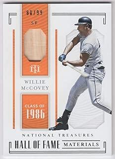 Willie McCovey 2019 Panini National Treasures Hall of Fame Material JSY #43 NM-MT MEM #27/99 Giants Baseball MLB