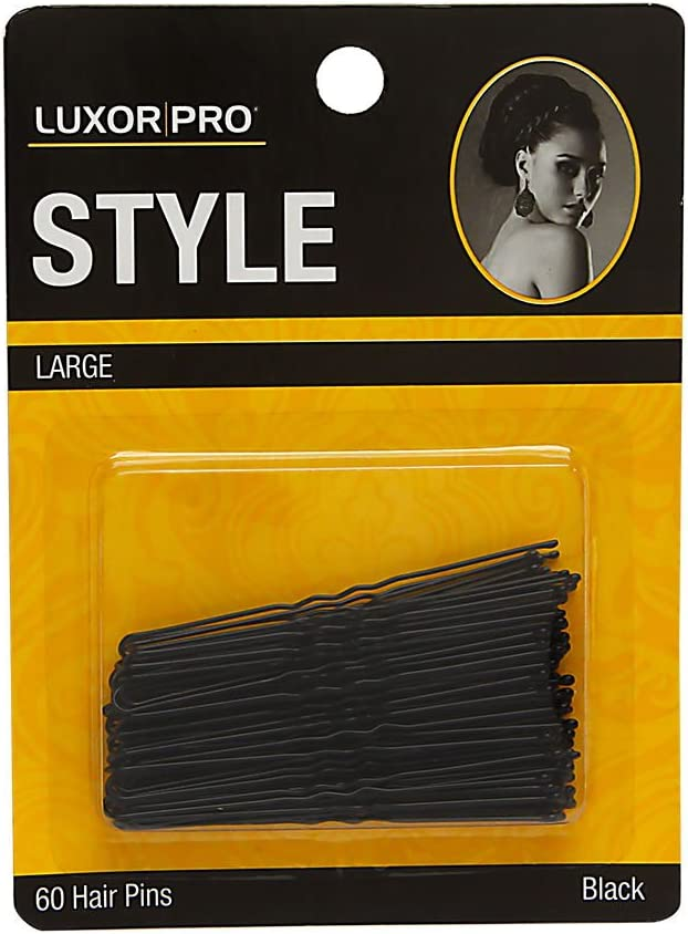 Luxor Professional Clearance SALE Limited time Style Large Hair Pins Black Mo 60 Max 56% OFF -