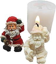 Moldes de silicone para vela, molde de vela de Papai Noel, molde de sabão de Natal, molde de silicone para decoração de bo...