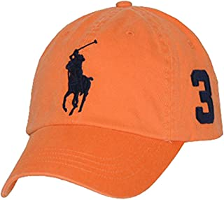 Ralph Lauren Polo Men Big Pony Logo Hat Cap (One Size, Resort Orange)