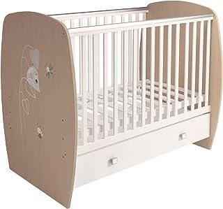 Polini Kids Babybett Gitterbett French Amis Eiche-Weiß