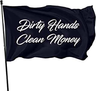 PAPORANFLAG American Flag 3x5 Foot Dirty Hands Clean Money 5 Flag