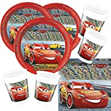 Procos 52-teiliges Disney Pixar Party-Set Cars 3 - Teller Becher Servietten für 16 Kinder