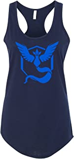 Pokemon Team Mystic Blue Womens Racerback Tank