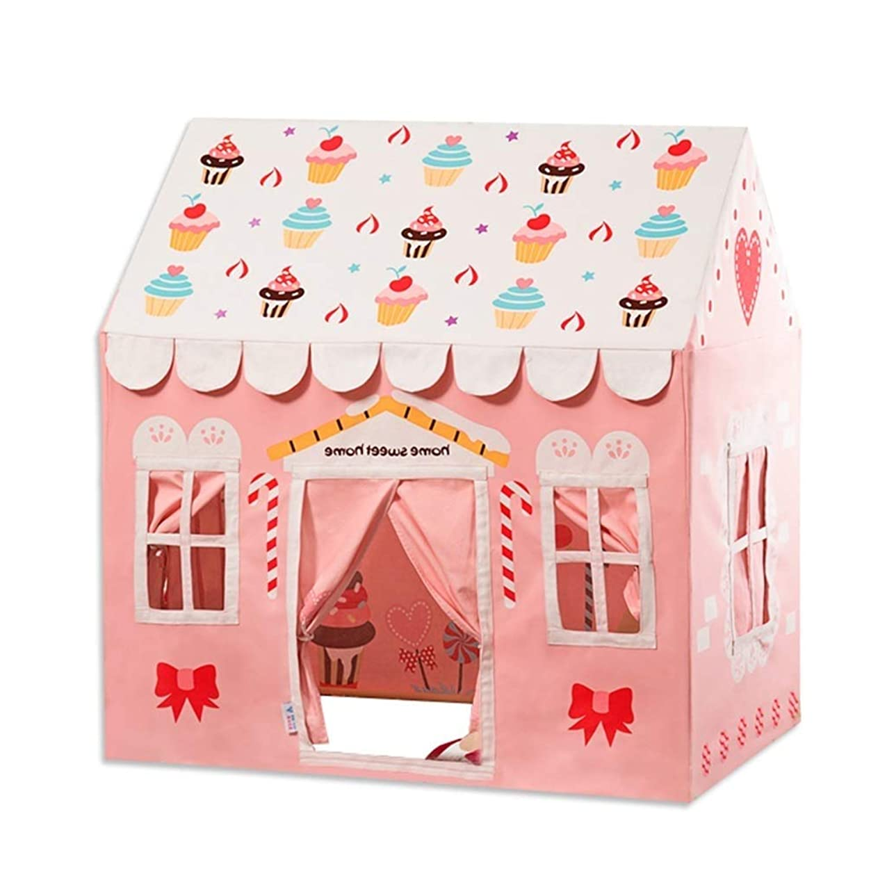 HLWAWA Kids Tent Princess Pink Flower Play Tent for Indoor and Outdoor Fun,Roomy Enough for 2-3 Little Girls Play Together (Color : Pink, Size : L) drxtvjcemgxzh262