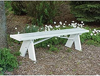 Superb Amazon Com White Plastic Benches Patio Seating Patio Spiritservingveterans Wood Chair Design Ideas Spiritservingveteransorg