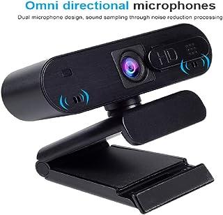 Webcam with Microphone for Desktop, AUAAQ 1080P Webcam, Drive-Free Noise Reduction Anti-Voyeur Autofocus Af Camera for Windows PC Linux Mac Laptop YouTube OBS Xbox Xsplit Skype Facebook