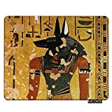 Nicokee Egypt Gaming Mousepad Egypt Jackal Headed God Anubis Mouse Pad Mouse Mat for Computer Desk Laptop Office 9.5 X 7.9 Inch Non-Slip Rubber