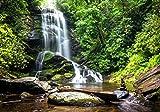 XXL Poster 100 x 70cm (S-834) Wasserfall im Gebirge Wasser