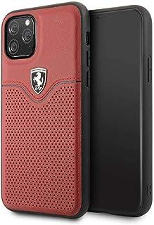 حافظة فيكتوري المتينة والمصنوعة من الجلد لجهاز ايفون 11 برو من فيراري - لون احمر