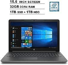 2019 Newest HP Pavilion 15.6 Inch HD Laptop (8th Gen Intel Quad Core i5-8250U up to 3.4GHz, 32GB DDR4 RAM, 1TB SSD (Boot) + 1TB HDD, Intel UHD Graphics 620, WiFi, Bluetooth, HD Webcam, Windows 10)