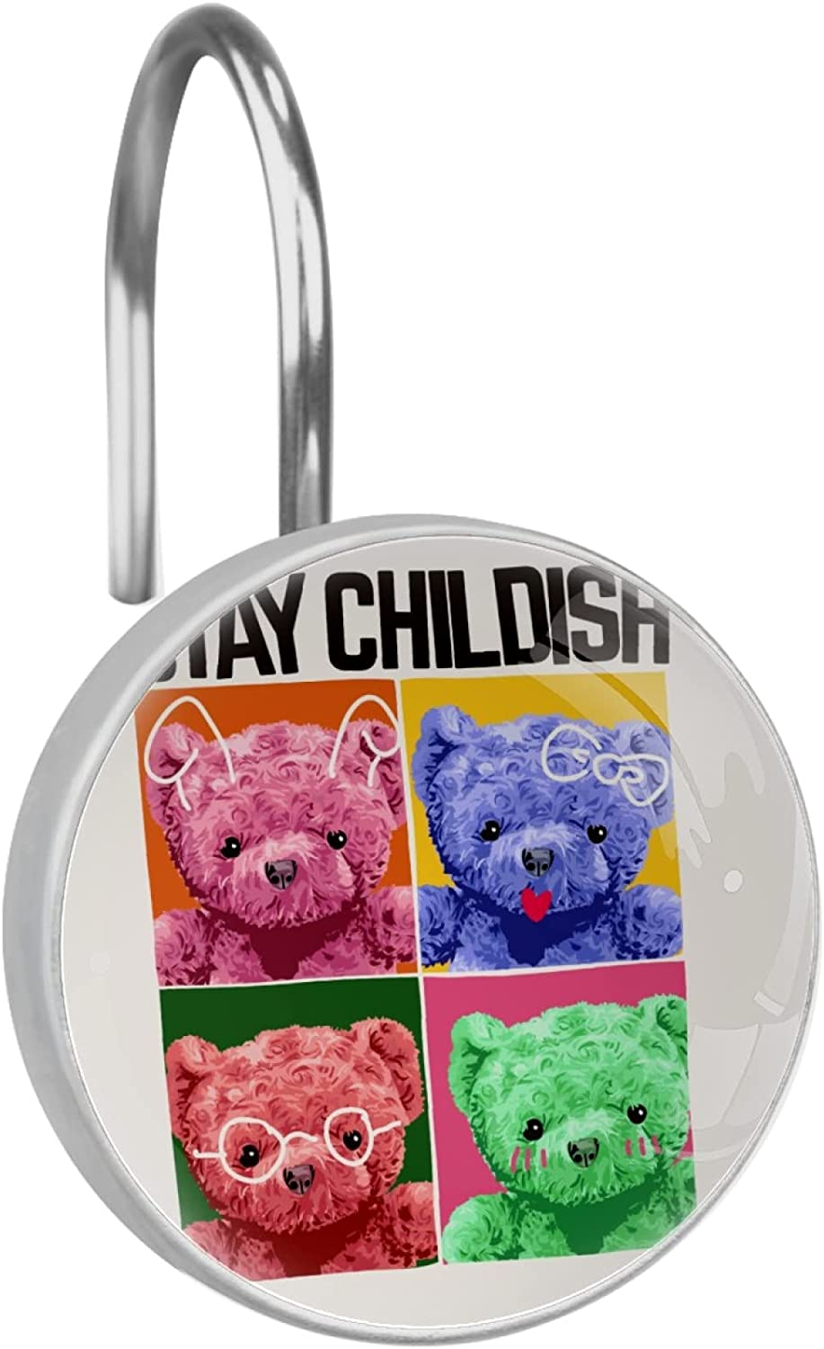 Genuine Free Shipping Dealing full price reduction Stay Childish Slogan with Colorful Bear Toy in Illu Frame Square