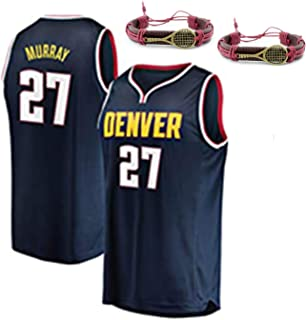 HGFF Fans'basketball Jersey,Murray 27 Nuggets Men's Basketball Clothes Cool Breathable Fabric Swingman Sleeveless Vest T-S...