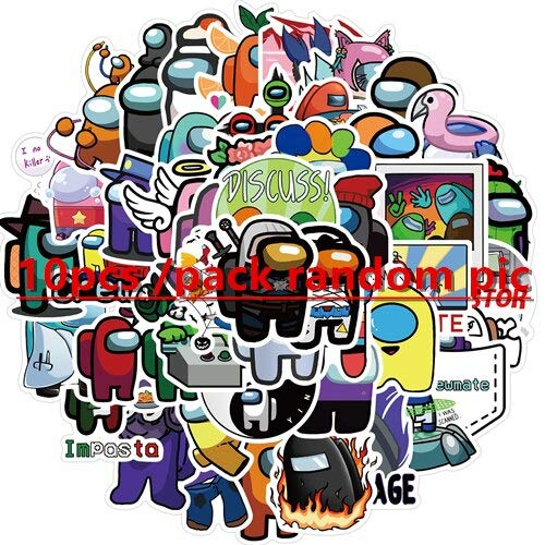 game Among Us graffiti stickers waterproof decals for luggage laptop guitar skateboard computer suitcase phone bicycle car book