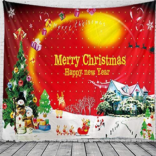 JXWR Tapiz navideño Mandala Tapiz Colgante de Pared Bohemia Tapiz Tapiz de brujería 150x130