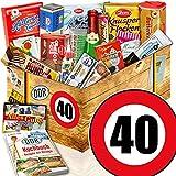 Süßigkeiten Box + DDR Artikel + Zahl 40 + Geburtstags Geschenk Frauen