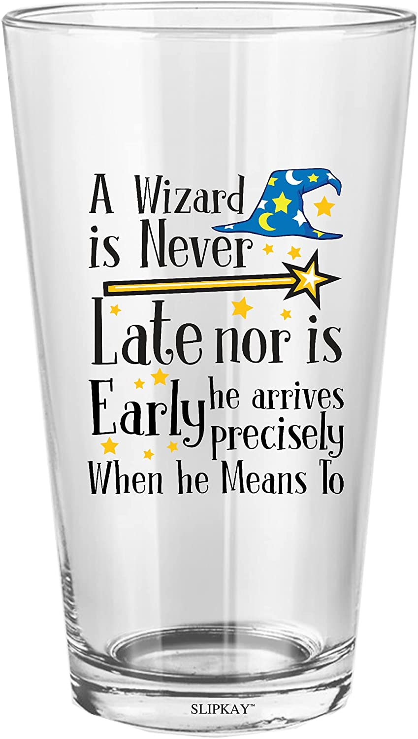 A Wizard High material Is Never Late Nor Animer and price revision Oz Early He Glass Pint 16
