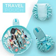 House Of Quirk Travel Makeup Bag ,Light Blue