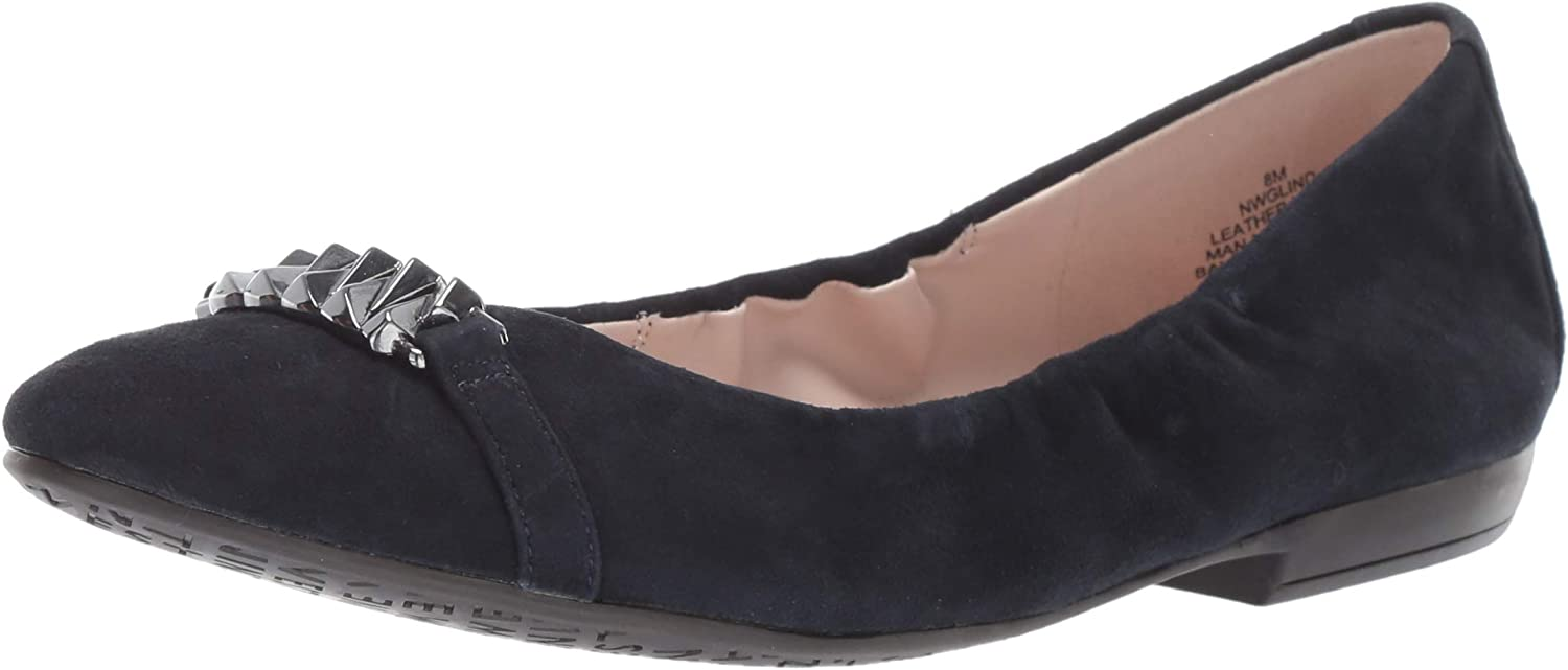 Nine West Womens Glind Suede Ballet Flat