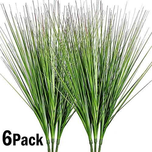 "27"" Artificial Plants Onion Grass Greenery Faux Fake Shrubs Plant Flowers Wheat Grass for House Home Indoor Outdoor Office Room Gardening Indoor Décor 6 Pack"