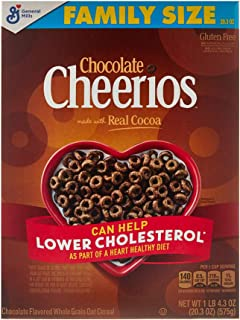 Chocolate Cheerios Cereal, Cereal with Oats, Gluten Free, 20.3 oz