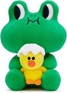 LINE FRIENDS Soft Plush Doll - Sally and Leonard Character Stuffed Throw Pillow Cushion 7 Inches