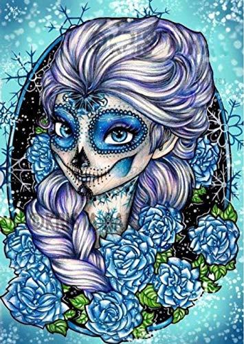 AlicestDiamant peintures 5D série de Dessins animés Princesse Diamant Motif Perlage 3D Bricolage Photos Couture Conte de fées Diamant mosaïque Artisanat -16x20pouce/40x50CM-154