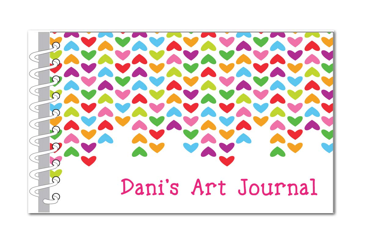 Lined Hearts free Art Journal for Book Custom Sketch security Kids