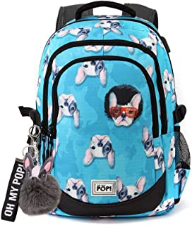 Oh My Pop Oh My Pop! Doggy-Running HS Backpack Mochila Tipo Casual 44 Centimeters 21 Multicolor (Multicolour)