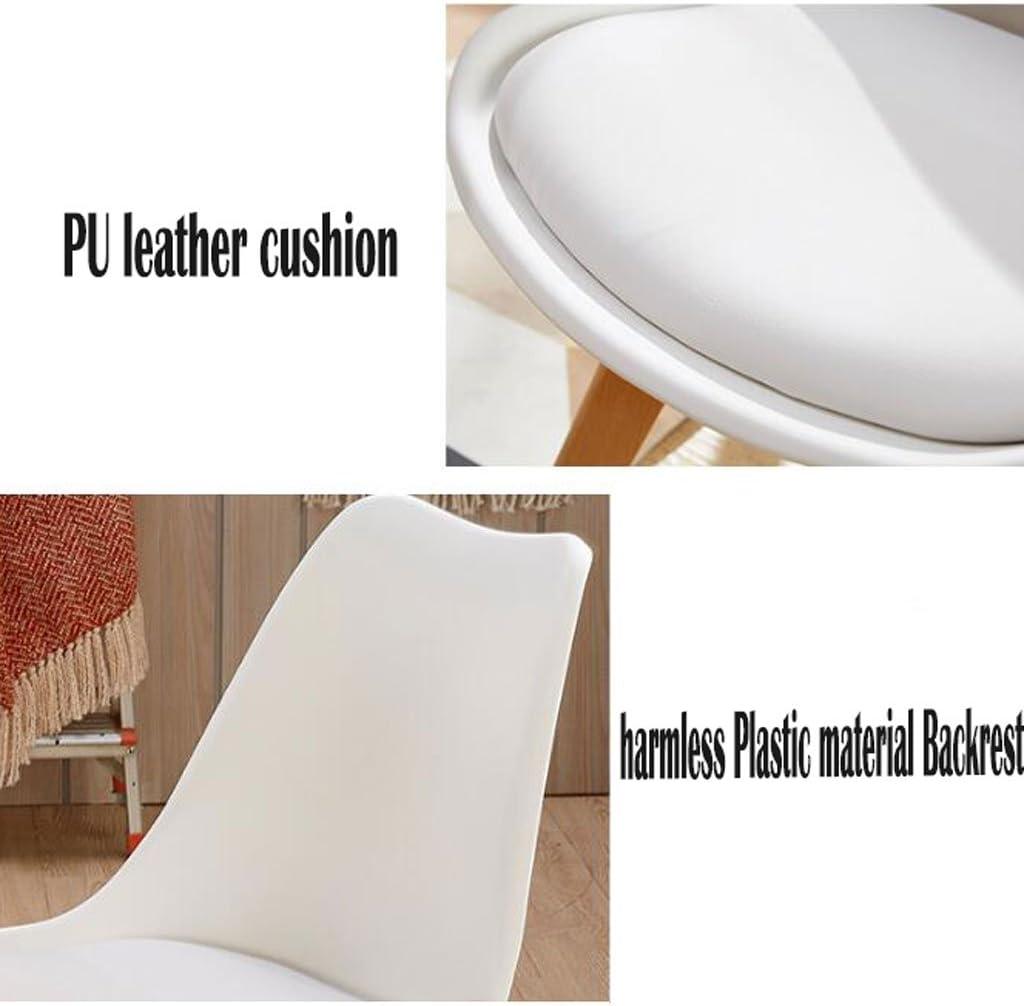 HXF- Chaise de Bureau Créativité Ménage Chaise d'ordinateur Moderne Simple Personnalité Art Tabouret Dossier À Repas Chaise Durable (Color : D) D