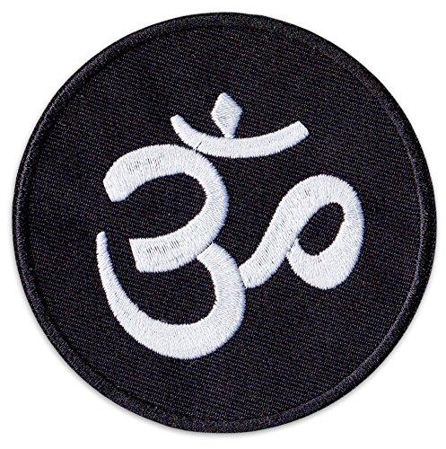 Parche con el símbolo del aum para planchar o coser en el hindúismo, budista para yoga, fiestas, festivales