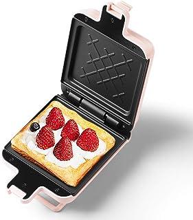 AJH Sandwich Toastie Maker avec Sandwich Petit Déjeuner Machine Maison Petite Machine Alimentaire Légère Machine De Cuisso...